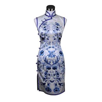 旗袍外形手绘素材